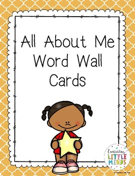 All About Me Word Wall Cards