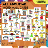 All About Me Vocabulary Word Wall Cards (set of 27) - Full Color Version