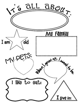 photo regarding All About Me Free Printable Worksheet named All Over Me Worksheet Academics Fork out Instructors