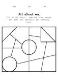 All About Me! (Worksheet #1)