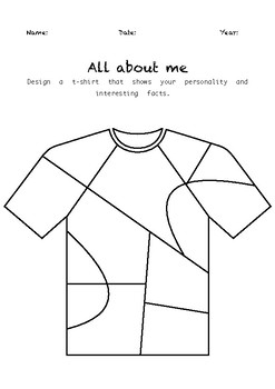 All About Me! (Worksheet #2)