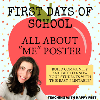 All About Me Worksheet by Teaching with Happy Feet | TpT