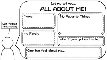 All About Me Worksheet - Back to School activity