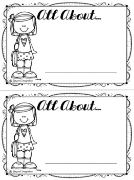 All About Me Worksheet Booklet