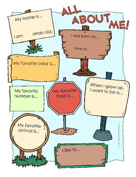 All About Me Worksheet Pack