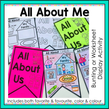 All About Me Worksheets Teaching Resources | Teachers Pay Teachers