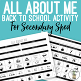 All About Me Worksheet for Secondary Sped