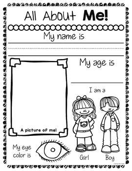 Geeky image regarding all about me free printable worksheet