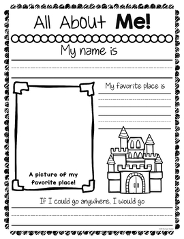 all about me worksheets by the super teacher teachers pay teachers. Black Bedroom Furniture Sets. Home Design Ideas