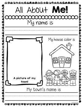 All About Me Worksheets by The Super Teacher | Teachers Pay Teachers