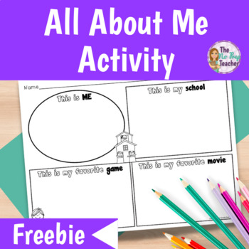 First Day of School: All About Me Worksheets