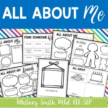 All About Me Worksheets Freebie