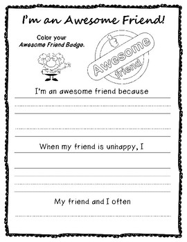 All About Me Worksheets Writing and Drawing American English