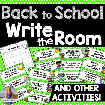 Back to School: All About Me Activities!