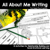 Back to School Writing Prompts   All About Me    Social Emotional Learning