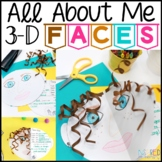 All About Me Writing Activity: 3-D Faces