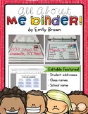 All About Me Writing Binder