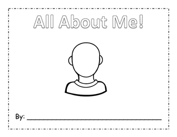 All About Me Writing Book