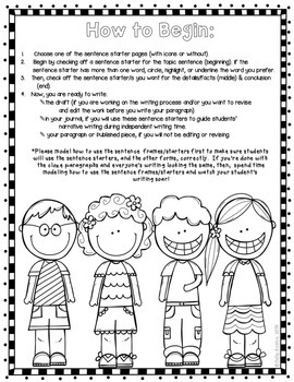 All About Me Writing & Craftivity, Back to School, Transitions/Sentence Starters