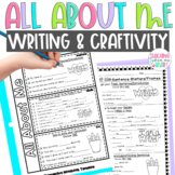 All About Me Writing & Craftivity Back to School Distance Learning Digital Incl.