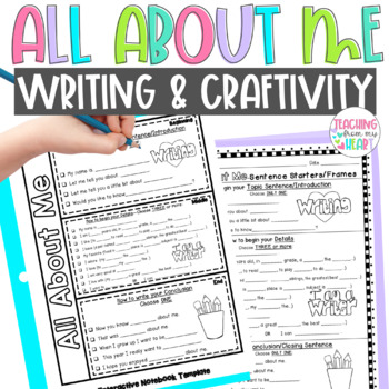 All About Me Writing & Craftivity, Biographies, Informatio