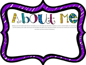 All About Me Writing Journal