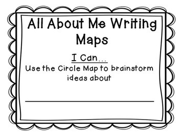 All About Me Writing Maps