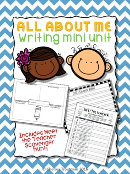 All About Me Writing Mini Unit