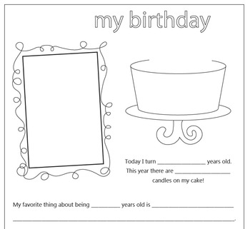 All About Me - Writing Prompt Book