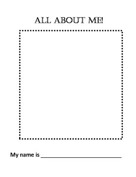 All About Me - Writing Sample Book