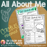 All About Me Writing Activity - Cactus Theme
