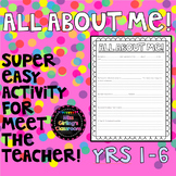 All About Me! {Years 1-6}