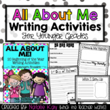 All About Me - Younger Grades - 20 Beginning of the Year Writing Activities