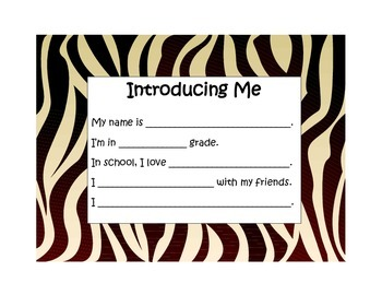 All About Me-Zebra Print Border