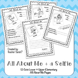 All About Me + a Selfie for Lower and Upper Elementary