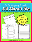 All About Me: a template to help your kiddies create their