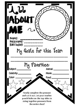 All About Me and Back to School Activities
