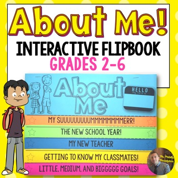 All About Me and Back to School Interactive FlipBook Activity for Grades 2-6