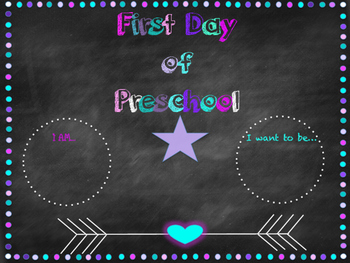 All About Me and First Day of School Pack 1