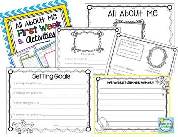 All About Me and First Week Activities