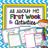 All About Me 2nd Grade and First Week Activities