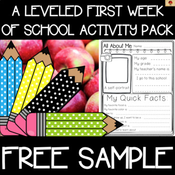 The First Week of School FREE SAMPLE