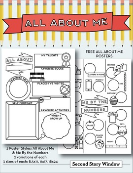 All About Me and Me By the Numbers Posters • First Day of School