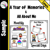 All About Me and Memory Book for the Year Free Sample