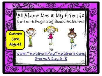 All About Me and My Friends Letter and Beginning Sound Games and Printables