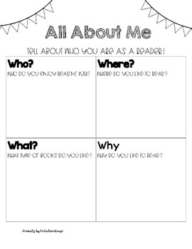 All About Me as a Reader