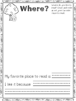 All About Me as a Reader: A Back To School Reading Questionnaire