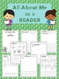 All About Me as a Reader A Back To School Reading Questionnaire