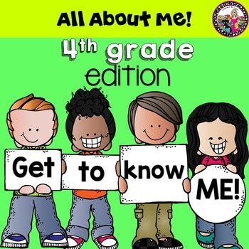 All About Me book! 4th Grade Edition! Data Collection too!