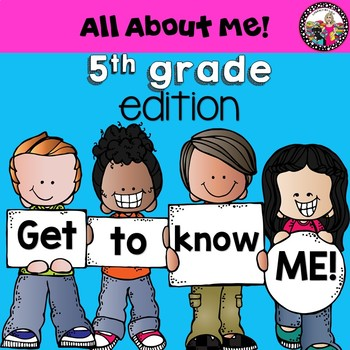 All About Me book for 5th Graders! Data Collection too!
